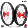 KKE 21 & 18 Casting Enduro Wheels for Honda CRF250R 04-13 CRF450R 02-12 Red