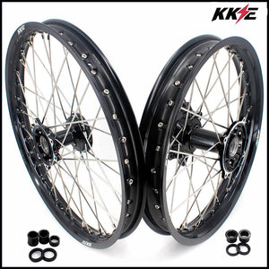 KKE 21 & 19 MX Casting Rim for Honda CRF250R 04-13 CRF450R 02-12 Black