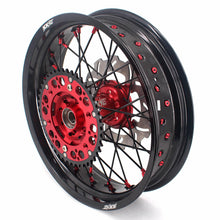 Load image into Gallery viewer, KKE Supermoto Wheels for HONDA CRF250R 04-13 CRF450R 02-12 Black Spoke