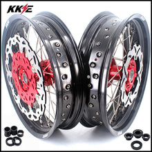 Load image into Gallery viewer, KKE 3.5 & 4.25 Cush Drive Supermoto Rims for HONDA XR650R 2000-2008 Red