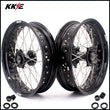 KKE 17 Inch Supermoto Rims for Honda CRF250R 04-13 CRF450R 02-12 Black