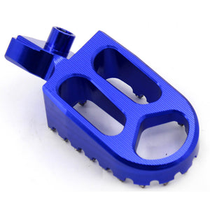 KKE RED BLUE BLACK CNC BILLET FOOTPEGS FOR HUSQVARNA CR SM SMR TC TE TXC WR 50-610 1999-2013 - KKE Racing