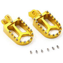 Load image into Gallery viewer, KKE RED GOLD BLACK CNC BILLET FOOT PEGS PEDALS FOR SUZUKI RMZ250 RMZ450 2010-2015 - KKE Racing