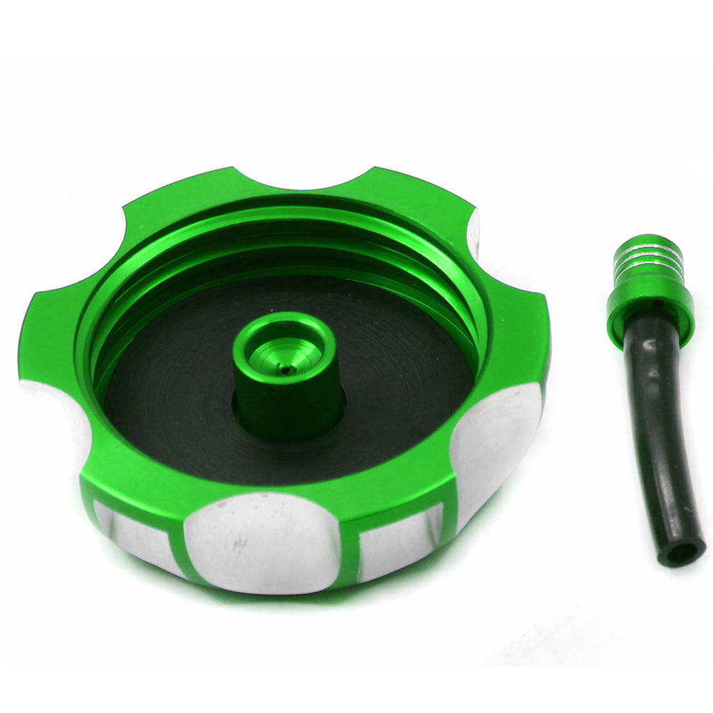 KKE Gas Fuel Tank Cap for KAWASAKI KX250 KX250F KX450F KFX 450R KLX450R Green Blue Black