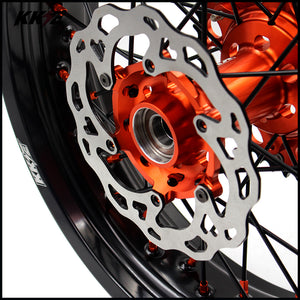 KKE 3.5 & 4.25 Rims for KTM SX SX-F XC-F XC XCW 2003-2020 Orange Black Disc