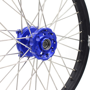 KKE 21 & 18 Wheels for Kawasaki KX250F KX450F 2006-2014 KX125 KX250 Blue