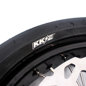 KKE 17 Inch Supermoto Wheels Tires for Yamaha WR250F 2001-2018 WR450F 2003