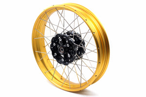 VMX 3.0*19 & 4.25*17 Tubeless Wheels Rims Set for BMW F700GS 2012 - 2018 Gold Rims Black Hubs