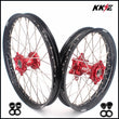 KKE 21/18 Spoked Enduro Wheels for GAS GAS Enduro Bikes 2004-2017 Red