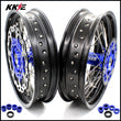 KKE 3.5 & 4.25 Supermoto Wheels for SX SX-F EXC EXC-F EXC-W XC XC-F XCW 125-530 2003-2021 Blue