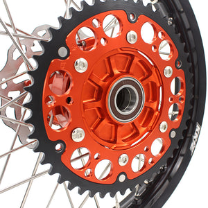 KKE 2.15*18 REAR CUSH DRIVE WHEEL RIM FOR KTM EXC EXCF 125 150 200 250 300 350 450 500 03-19 ORANGE - KKE Racing