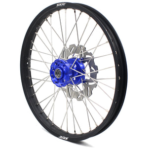 KKE 21 & 18 Complete Wheels Rims Set for Kawasaki KX125 KX250 1993-2002 Blue Hub Discs