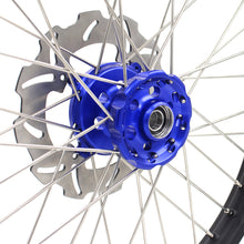 Load image into Gallery viewer, KKE 21 & 18 Complete Wheels Rims Set for Kawasaki KX125 KX250 1993-2002 Blue Hub Discs
