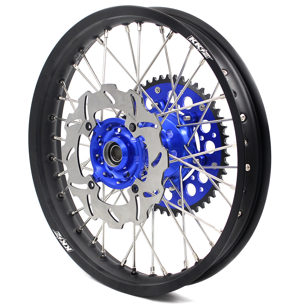 KKE 21 & 18 Enduro Wheels Set for Kawasaki KX250F KX450F 06-18 KX125 KX250 Blue Black