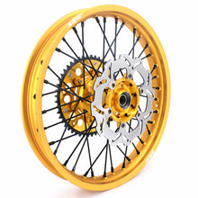 Load image into Gallery viewer, KKE 21 & 19 MX Wheels Rims for Suzuki RM125 2001-2007 RM250 2001-2008 Gold Rims