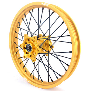 KKE 21 & 19 Gold Rims for Suzuki RM125 2001-2007 RM250 2001-2008 Black