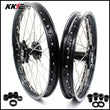 KKE 21 & 19 MX Wheels for Suzuki RM125 RM250 Black Hubs Rims