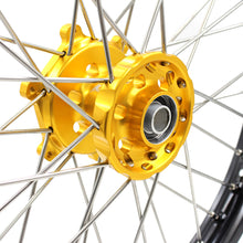 Load image into Gallery viewer, KKE 1.6*21 FRONT SINGLE WHEEL RIM FOR SUZUKI RM125 1996-2007 RM250 1996-2008 GOLD ANODIZED HUB - KKE Racing