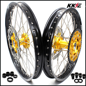 KKE 21 & 19 Rims Set for SUZUKI RM125 1996-2000 RM250 1996 Gold