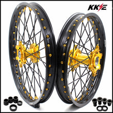 Load image into Gallery viewer, KKE 21 & 18 Wheels for Suzuki RM125 1996-2007 RM250 1996-2008 Gold Black