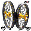 KKE 21 & 19 MX Rims for Suzuki RM125 1996-2000 RM250 1996 Gold Black
