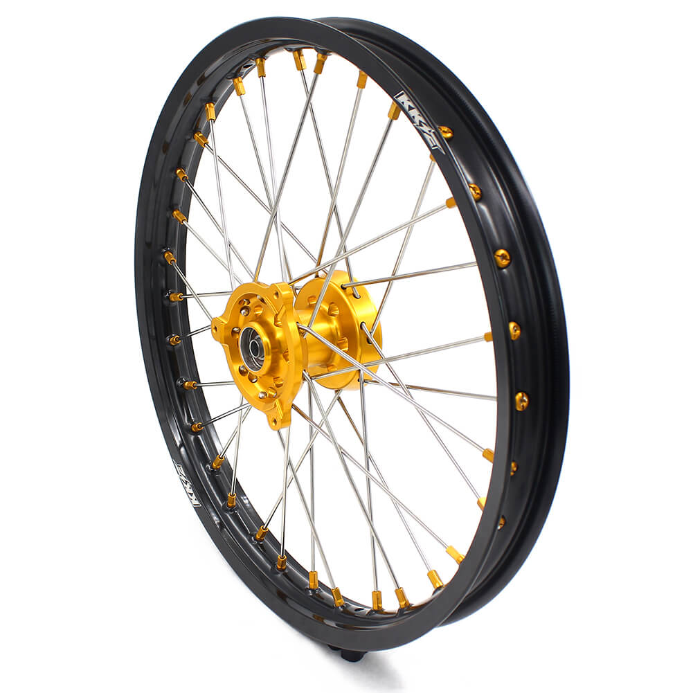 KKE 19/16 RM80 RM85 1993-2017 KID WHEELS RIMS SET FOR SUZUKI GOLD ALLOY NIPPLE - KKE Racing