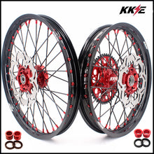 Load image into Gallery viewer, KKE 21 & 19 MX Rims for Suzuki RMZ250 2007 RMZ450 2005-2020 Red Black