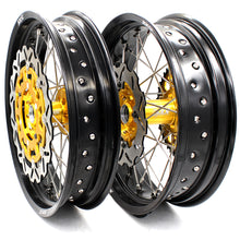 Load image into Gallery viewer, KKE 3.5 & 4.25 Supermoto Wheels for SUZUKI DRZ400 DRZ400E DRZ400S Gold