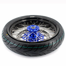 Load image into Gallery viewer, KKE 3.5 & 4.25 Cush Drive Rims Tires for Yamaha WR250F WR450F Blue