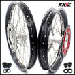 KKE 21 & 19 Casting Wheels Rims Set for Honda CR125R 1998-2001 CR250R 1997-2001 240mm Brake Discs Rotors
