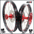 KKE 21 & 18 Casting Wheels for HONDA CR125R 1998 CR250R 1997-2001 Red