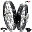KKE 21 & 19 Casting MX Wheels for YAMAHA YZ250F 2001-2021 YZ450F 2003 Silver