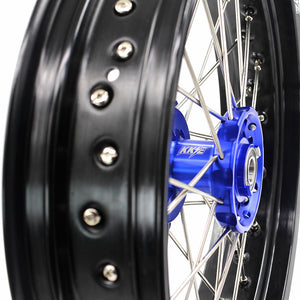 KKE 3.5 & 4.25 SM Wheels for YAMAHA YZ125 YZ250 YZ250F YZ450F Blue