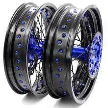 Load image into Gallery viewer, KKE 3.5 & 4.25 Supermoto Wheels for SUZUKI DRZ400 DRZ400E DRZ400S Blue Black