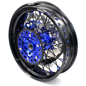KKE 3.5 & 4.25 Supermoto Wheels for SUZUKI DRZ400 DRZ400E DRZ400S Blue Black