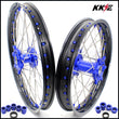 KKE 21 & 19 Wheels for Yamaha YZ250F YZ450F 2016-2021 Blue Nipple Discs