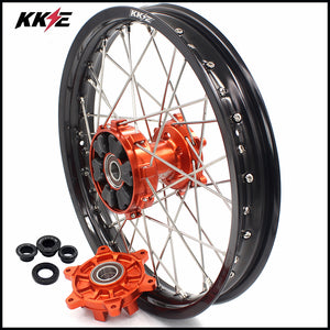 KKE 18 Inch Rear Cush Drive Wheel Rim for KTM EXC EXC-F EXC-W 125-530 2003-2020 Orange Hub
