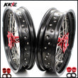 KKE 17 Inch Motard Rims for SUZUKI RMZ250 2007 RMZ450 2005-2021 Red Hubs