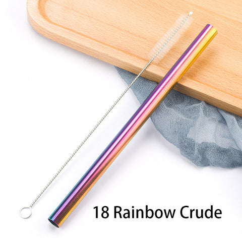 Reusable Stainless Steel Metal Drinking Straws (Individual)