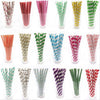 Image of Biodegradable Disposable Paper Straws (25pcs)