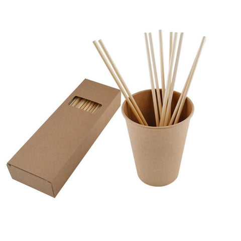 Wheat-Straw Biodegradable Disposable Drinking Straw Biodegradable (200pcs)