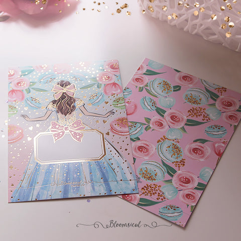 Alice Journaling Card with Gold Foil Accents