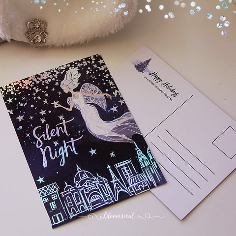 Angels Postcard /  Journaling Card Holographic Foil