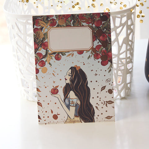 OOPS Apple Journaling Card with Gold Foil Accents