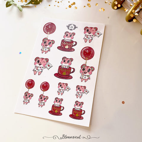 Apple Mini Deco Sticker Sheet Gold Foil Accents