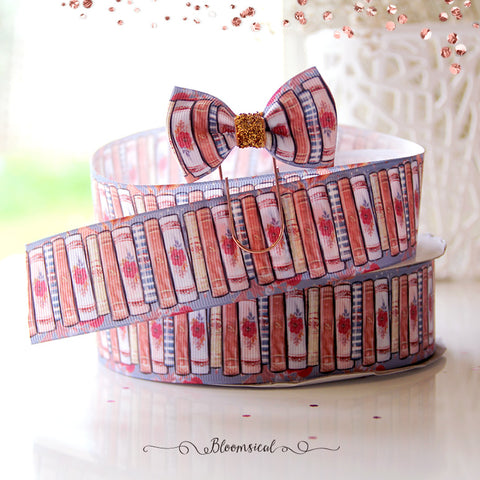 Autumn Fairytale Books Grosgrain Printed Ribbon