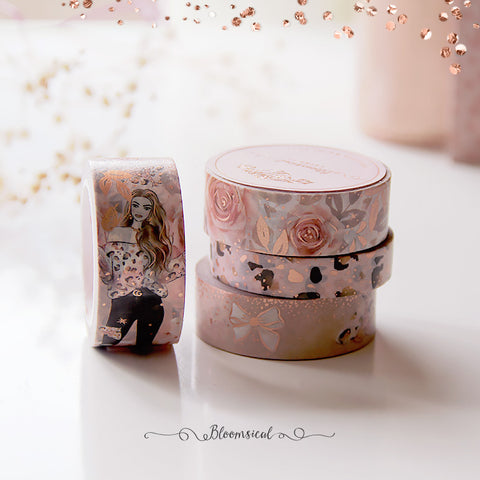 Blush & Spice Washi Tape Collection Rose Gold Foil