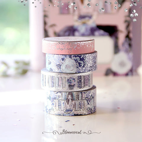 Booklover Washi Tape Collection Silver Foil