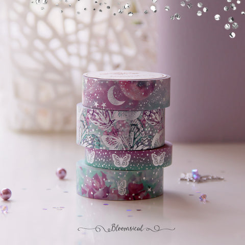 Butterfly Fantasy V2 Washi Tape Collection Silver Foil