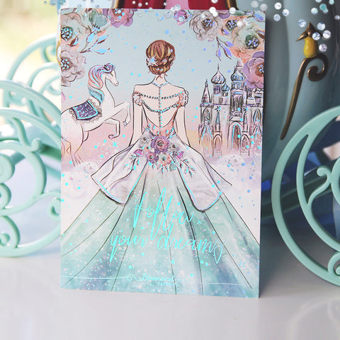 Carousel Dreams Journaling Card with Holo Foil Accents